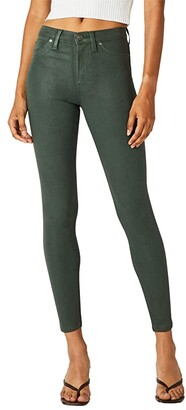 Hudson Barbara High-Rise Super Skinny in High Shine Emerald Green (High Shine Emerald Green) Women's Jeans