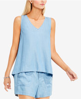 Vince Camuto TWO by Split-Back Chambray Top