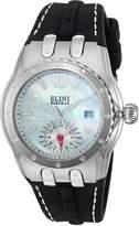 Elini Barokas Women's 'Genesis Vision' Swiss Quartz Stainless Steel and Silicone Automatic Watch, Black (Model: 20029-02)