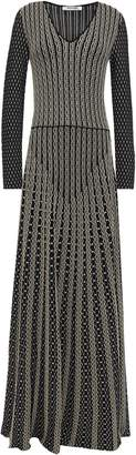 Roberto Cavalli Metallic-trimmed Stretch-knit Gown
