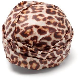 Flapper Elisabeth Leopard-print Turban Hat - Leopard