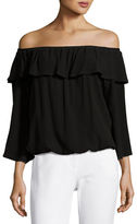 BA&SH Azar Off-the-Shoulder Ruffled Top