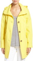 Ellen Tracy Women's A-Line Sailcloth Coat With Detachable Hood
