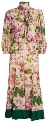 Dolce & Gabbana Silk Pussybow Dress