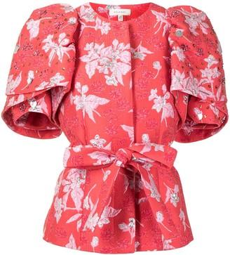 DELPOZO Puff-Sleeve Jacket With Embellishment