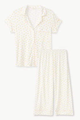 Eberjey Gisele Printed Short Sleeve and Cropped Pant PJ Set