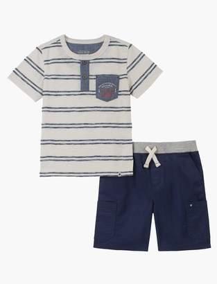 Lucky Brand 12m-24m Stripe Shirt And Short Set