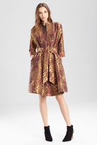 Josie Natori Animal Jacquard Trench Dress