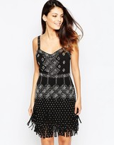 French Connection Diamond Fringe Strappy Dress
