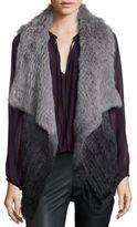 Parker Cassandra Ombre Rabbit Fur Vest