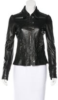 Galliano Leather Fitted Jacket