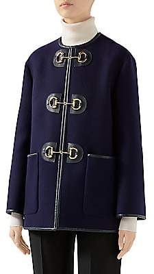 Gucci Women's Military Stretch-Wool Jacket