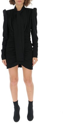 Saint Laurent Micro Pleated Fitted Dress