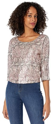 Cupcakes And Cashmere Bailey Top (Ballet Pink) Women's Clothing