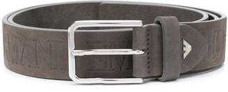 Emporio Armani Logo Embossed Belt