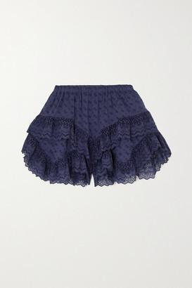 Etoile Isabel Marant Teocadia Ruffled Broderie Anglaise Cotton Shorts