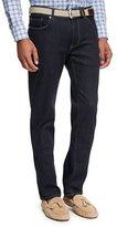 Peter Millar Vintage-Wash Denim Straight-Leg Jeans, Blue
