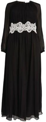 Giorgio Grati Lace-Detail Gown