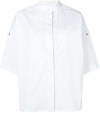 Yves Salomon Cuffed Sleeves Shirt