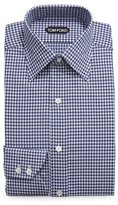 Tom Ford Optical Check Dress Shirt, Navy