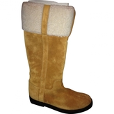 Saint Laurent Yellow Leather Boots