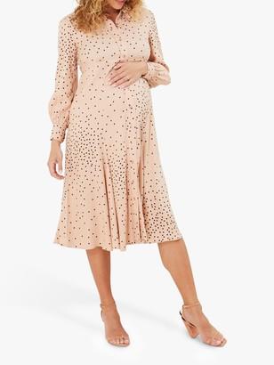 Isabella Oliver Juniper Maternity Dress, Light Peach