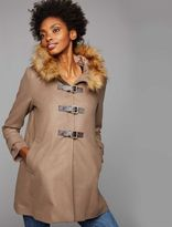 A Pea in the Pod Web Only Envie De Fraise Faux Fur Trim Maternity Coat