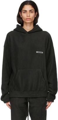 Essentials Black Polar Fleece Hoodie