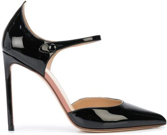 Francesco Russo Mary-Jane strap 105mm pumps