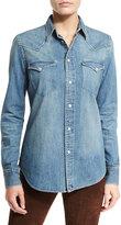 Ralph Lauren Palomar Denim Western Shirt, Blue