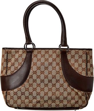 Gucci Brown Gg Canvas Bag