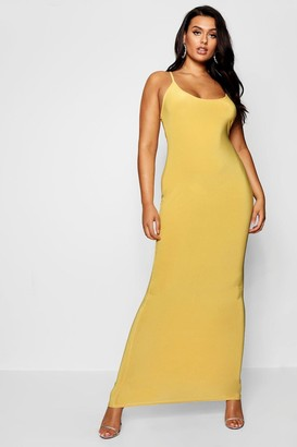 boohoo Plus Slinky Strappy Maxi Dress