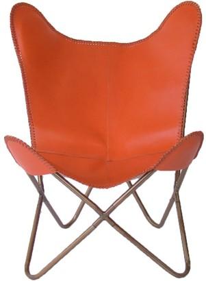 Nubuck Butterfly Chair Orange