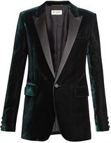 Saint Laurent Satin-lapel velvet tuxedo jacket
