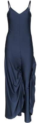 Y/Project Legging-detail satin slip dress