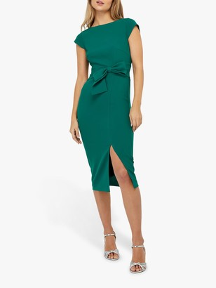 Monsoon Tilda Bow Shift Dress, Green
