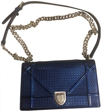 Christian Dior Diorama Blue Patent leather Handbags