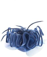 Quiz Navy Feather Wave Fascinator