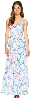 Lilly Pulitzer Melody Maxi Dress (Pink Sunset The Sunny Side) Women's Dress