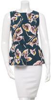 Marni Floral-Printed Flounce Top w/ Tags