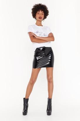 Nasty Gal Womens The Vinyl Word Petite Mini Skirt - Black