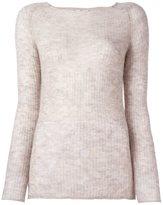 Forte Forte ribbed fine knit jumper - women - Polyamide/Wool/Alpaca - 1