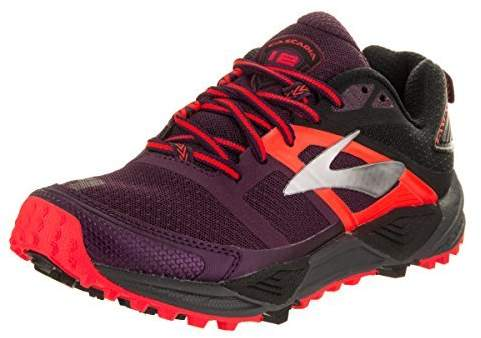 Brooks Women's Cascadia 12 Running Shoe (BRK-120233 1B 3888320 5.5 604 BEET/BLACK/CORAL)