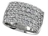 Karina B Diamond Round Band in Platinum 950 Size 4