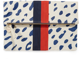 Clare Vivier Canvas Foldover Clutch