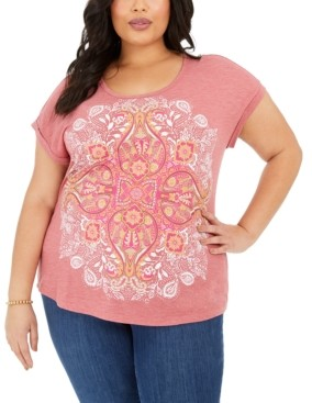 Style&Co. Style & Co Plus Size Graphic-Print T-Shirt, Created for Macy's