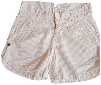 Woolrich White Cotton Shorts for Women