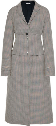 Jil Sander Belted Checked Wool Coat