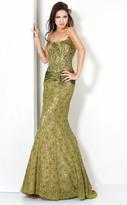 Jovani 7732 Corset Boning Lace Gown