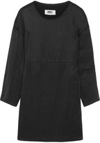 MM6 MAISON MARGIELA Frayed Washed-satin Dress - Black